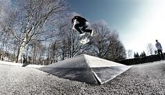 Mitch Hens - BS Flip (   JVG Pictures   ) Tags: k back belgium skateboarding pentax bs side mitch 7 8 fisheye flip skate falcon skateboard backside mm 8mm bowler antwerpen hens kickflip brasschaat k7 samyang mishagen