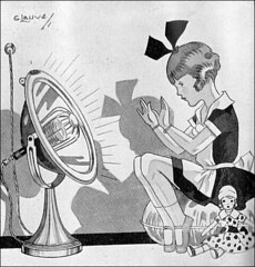 the 1930s-ad for electric radiator (april-mo) Tags: jazzage vintagead vintageillustration vintagemagazine the1930s flapperera the30s electricradiator 1931ad artdcoera adforradiator 1931littlegirl 1931lillustration