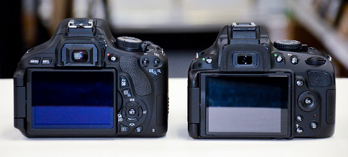 Canon T3i vs Nikon D5100 compare side by side