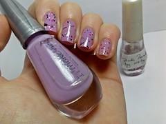 """Desafio Musical #2 - """"Sorry"""" // 12 meses, 12 esmaltes: SETEMBRO. (Raíssa S. (:) Tags: esmalte unhas nails glitter panvel lilás lilac indie bynety desafiomusical nailpolish naillacquer"""