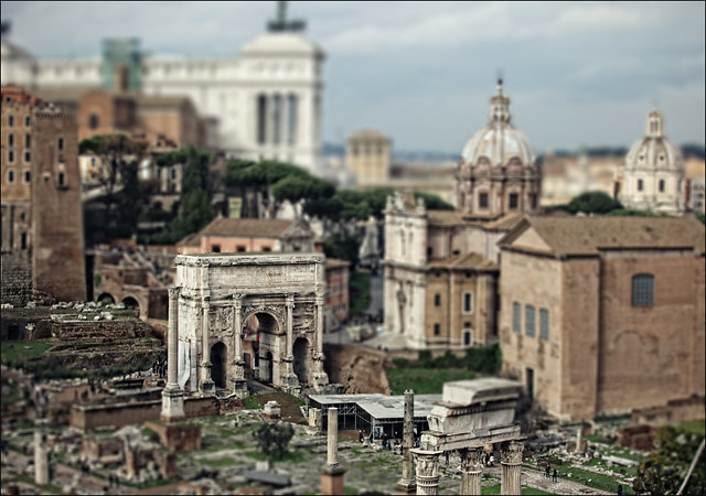 forum romano, rome, italy