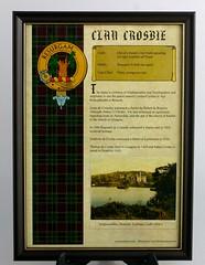 Crosbie Clan History Print