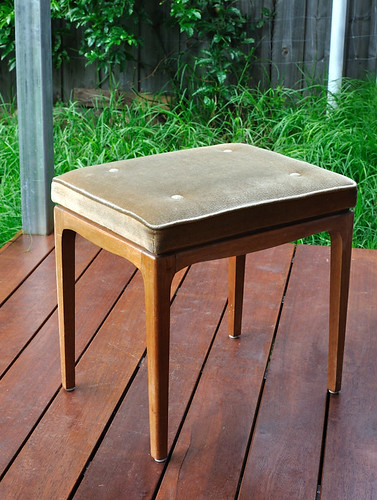 vintage parker foot stool
