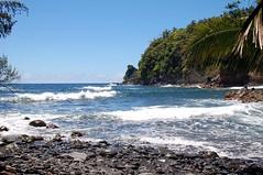 Secret beach, Onomea Bay, Hawaii 2 (tomkny) Tags: ocean usa seascape water landscape hawaii beaches