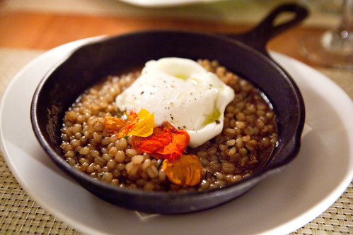 "Barley, Farm Egg ""Porridge"""