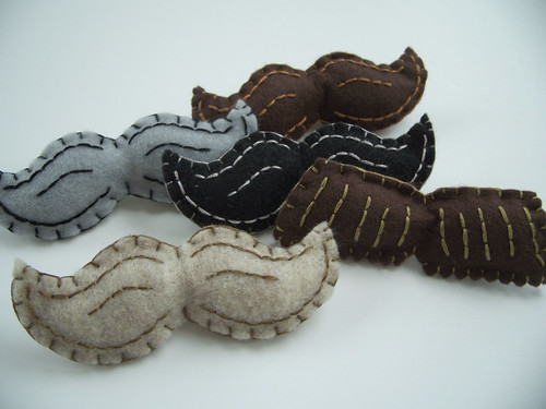 Mustache Brooches