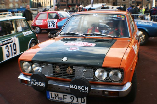 Classic rally Car at Glasgow