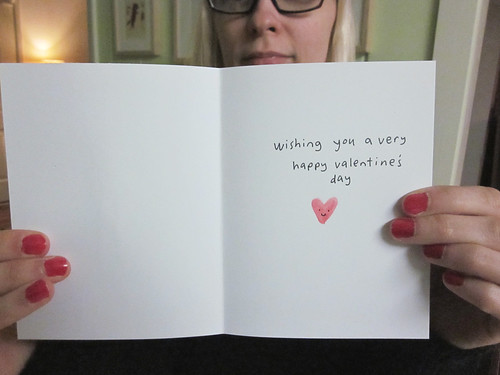 Holding Heart Valentine's Day Card Inside