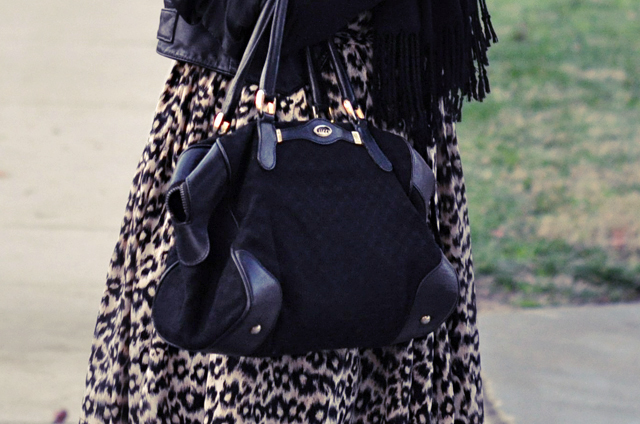 leopard print, black and leopard, vintage gucci bag, DSC_0035