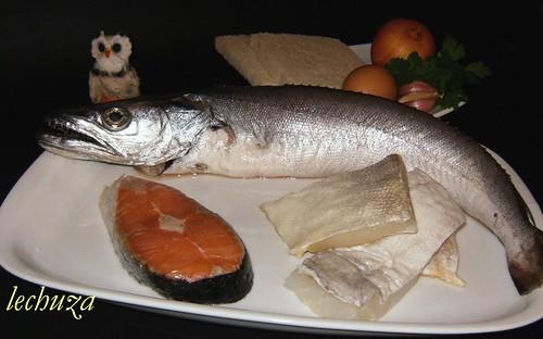 Albondigas de pescado-ingredientes.