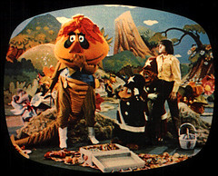 H.R. Pufnstuf (*darkly dreaming gardener*) Tags: boat 60s witch wand jimmy flute creepy 70s washedashore witchiepoo shipwrecked hrpufnstuf vroombroom rescueracercrew