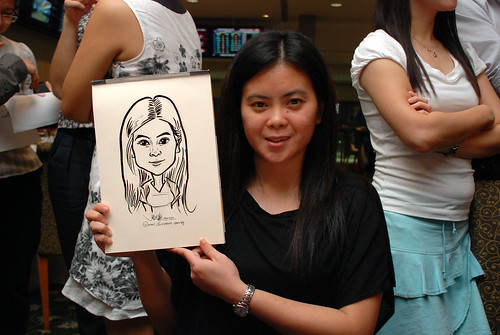 caricature live sketching for Thorn Business Associates Appreciate Night 2011 - 31