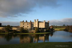 Leeds Castle (Sarah H Bennett) Tags: winter castle reflections kent leedscastle maidstone mote t189522011week5