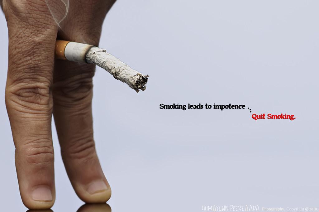 Smoking leads to impotence ... Quit smoking