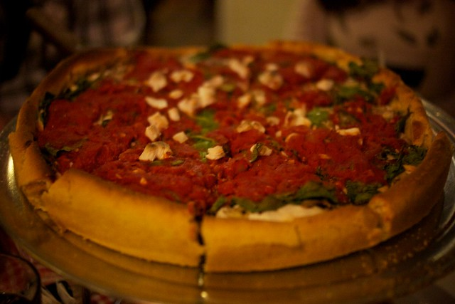 vegan deep dish pizza