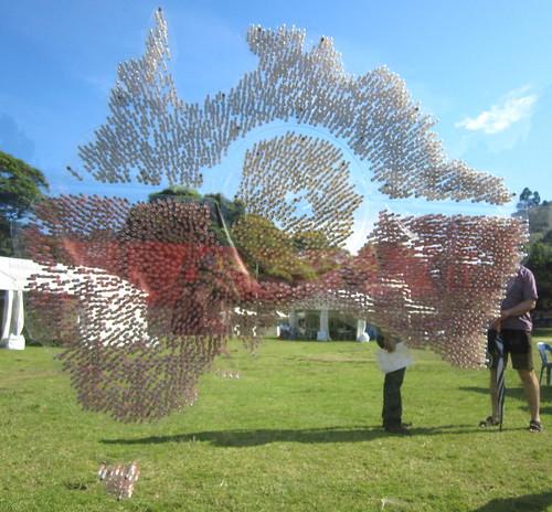 Australia Day sculpture: map of sand vials