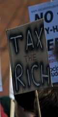 Tax the Rich placard
