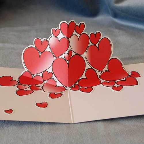 valentine red hearts 03