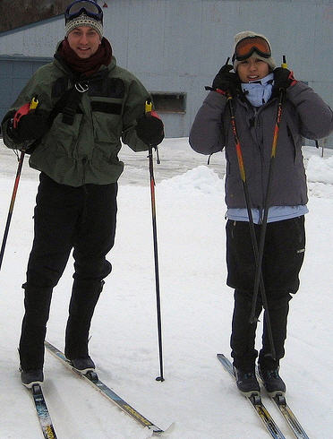 Two Cabot Shores' Guests at Nordic Ski Area in Cape North