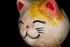 Tokyo Lights (J. E. Gonzalez) Tags: portrait macro closeup cat doll handmade nikkormicro105mmf28 micro105mm