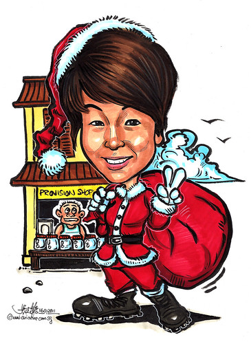 Santa Claus caricature @ provision shop