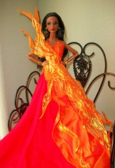 Dancing  Fire (napudollworld) Tags: girl fashion aka fire james centennial dress dancing katia designer barbie spotlight bond dynamite royalty mattel tj 007 sorority countess rubies jimenez