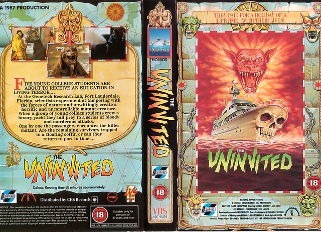 THE UNINVITED (VHS Box Art)