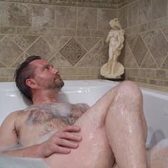 250 | 365 | Venus (DavidNewEngland) Tags: gay portrait selfportrait man naked beard bath bathtub saltandpepper hairychest project365 davidsullivan davidnewengland
