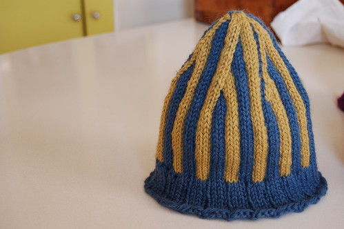 yellow and blue hat