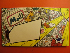 Doodled mail art (Sarahbella3) Tags: art sunshine mail drawing envelope sharpie doodles drawn doodled