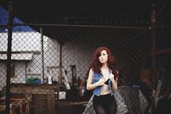 Nola (jordanvoth.com) Tags: seattle red fashion clouds hair fur 50mm cool pretty day jean head mark gorgeous 14 tights jordan jacket rainy ii 5d nola voth fashionesque