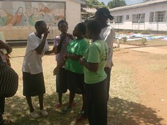 Discussing hygiene and sanitation through sign language