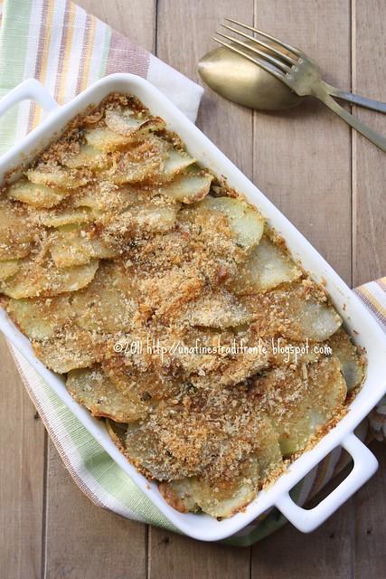 Gratin di patate e carciofi