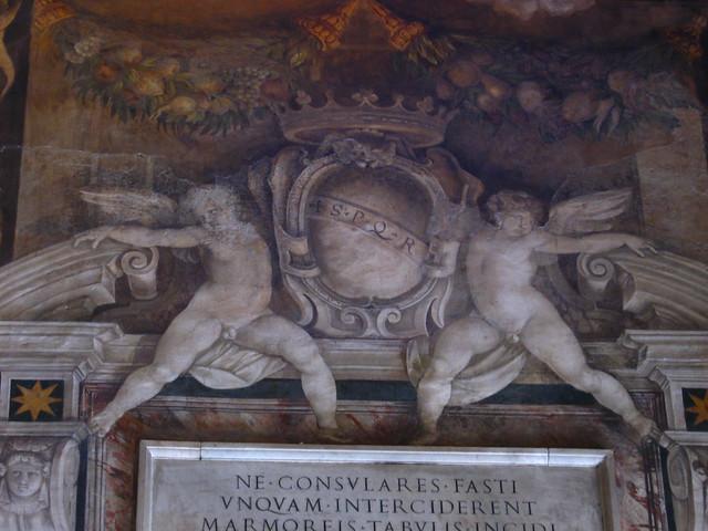 ローマの天使像のフリー写真素材
