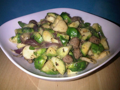 Sprouts and sausages
