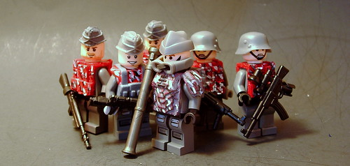 Custom minifig Apocalyptic Red-Dust Soldier