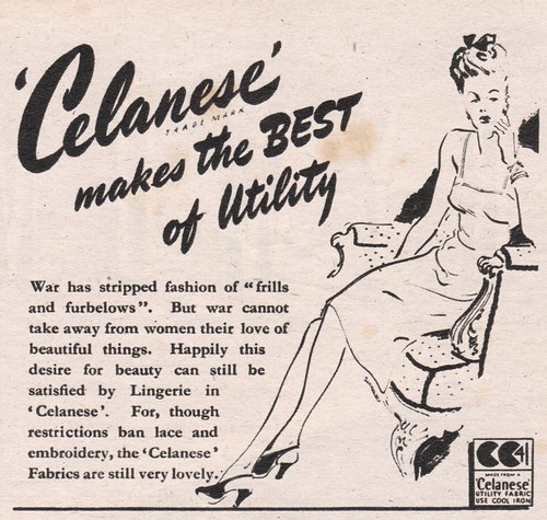 Advert for 'Celanese' acetate rayon1945
