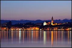 Lago Maggiore: Arona (Gottry) Tags: city longexposure travel panorama lake reflection landscape lago nikon maggiore riflessi viaggio città riflesso 18105 angera arona d90