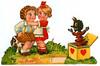 Vintage Valentine: Krampus Jack-in-the-box (pageofbats) Tags: old halloween strange valentine retro creepy card jackinthebox krampus vintagevalentine weirdvalentine halloweenvalentine