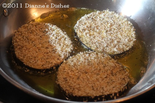 Eggplant Parmesan: Frying