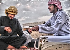 Khaled & Fahad (.Qanas.) Tags: red two sky cloud colors smile yellow canon hearts photography friend play friendship desert uae forever abu dhabi khaled hdr fahad qanas rashed alzaabi