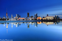 City Reflection (A.alFoudry) Tags: city blue winter light sunset sea fish reflection tower canon landscape eos lights cityscape mark mosque full hour frame slowshutter 5d kuwait fullframe scape liberation ef kuwaiti q8 abdullah عبدالله mark2 2011 1635mm الكويت كويت || kuw q80 q8city xnuzha alfoudry الفودري abdullahalfoudry foudryphotocom mark|| 5d|| canoneos5d|| mk|| canoneos5dmark|| canonef1635mmf28l|| f28l|| ٢٠١١