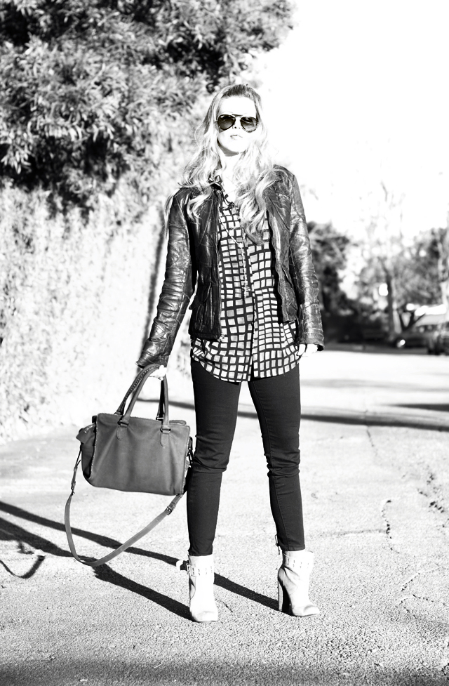 vintage leather jacket, los angeles blogs, ankle boots, fashion, j brand jeans, cropped jeans, dvf bag, long hair, street style, DSC_0063