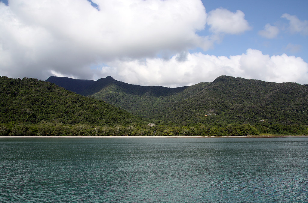 Cape Tribulation Shoreline Taken from the from Rumrunner on a Day Trip to the Great Barrier Reef