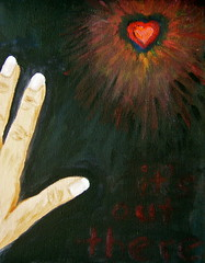 it's out there (skintone) Tags: art love painting hope hand heart nails springs mypainting myhand valentinesday eternal skintone itsmulticolored