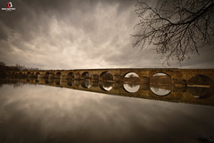 PUENTE DE PIEDRA DE TORO (penn84^^) Tags: bridge red rio stone clouds reflections river de puente mayor romano nubes provincia toro zamora vino reflejos romanico pescadores tinto piedra duero polarizador antigedad winw