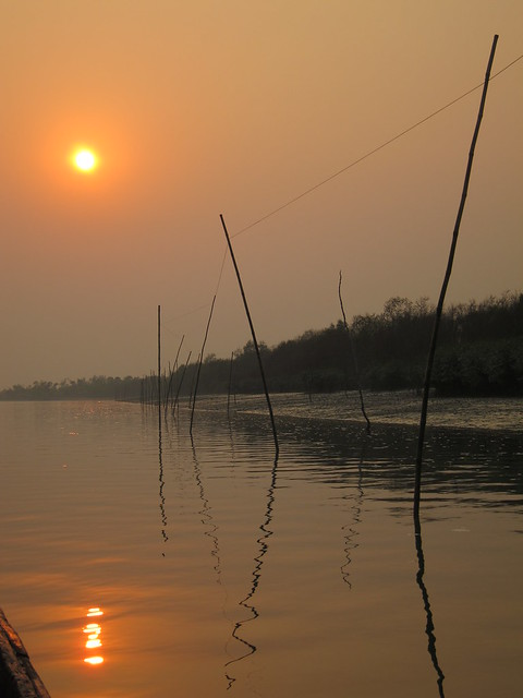 Sunset over the Sundarbans