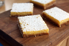 lemon bars (gingersnap crust)