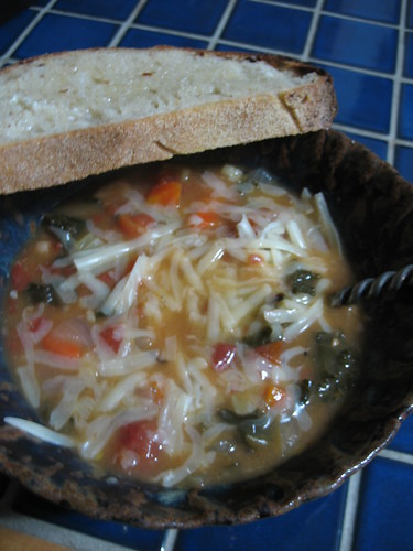 Cannellini Bean Soup and Homemade Bread