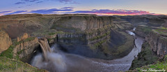 Palouse Falls Sunset - Mega-Pano (Coop Photography) Tags: sunset panorama moon water river flow photography waterfall washington high nikon flood january canyon falls hills filter level nd wa 17 coop washtucna 06 density mega palouse neutral 2011 d90 vertorama